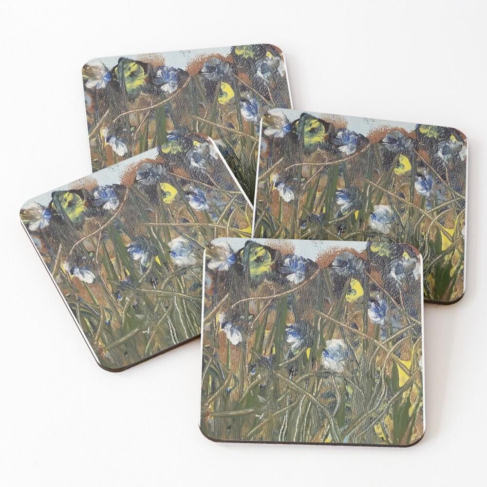 Mountain Flowers Coasters (Set of 4)