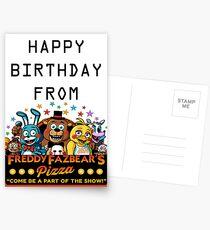HAPPY BIRTHDAY  FROM FREDDY FAZBEAR'S PIZZA Postcards