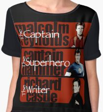 The Captain, The Superhero, and The Writer Women's Chiffon Top
