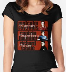 The Captain, The Superhero, and The Writer Women's Fitted Scoop T-Shirt