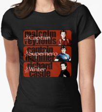 The Captain, The Superhero, and The Writer Women's Fitted T-Shirt