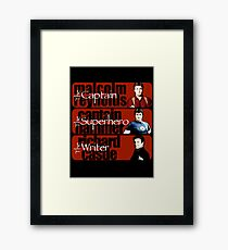 The Captain, The Superhero, and The Writer Framed Print