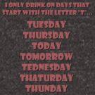 Drinking Days (Red) by Herbert Shin