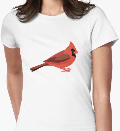 Cutie Cardinal Womens Fitted T-Shirt