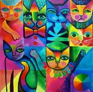 Clown cats by Karin Zeller