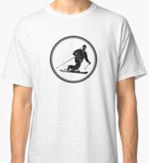 Mens Telemark Skiing Classic T-Shirt
