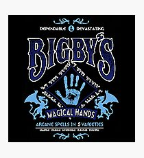 Bigby's Magical Hands Photographic Print