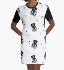 Teddies in swimming suits Graphic T-Shirt Dress