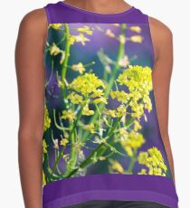 Yellow Rocket Flower Blossoms Contrast Tank
