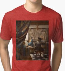 Johannes Vermeer - The Art of Painting 1666 - 1668 Tri-blend T-Shirt