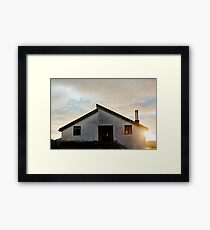 Quiet House at sunset Framed Print