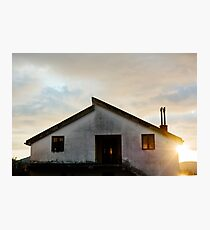 Quiet House at sunset Photographic Print