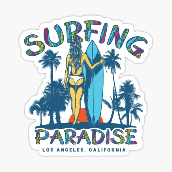 Surfing Paradise Los Angeles Sticker