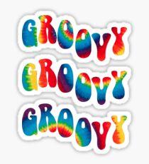 Groovy Wellen Sticker