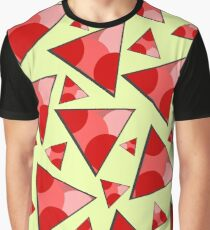 Floating triangles in red Graphic T-Shirt