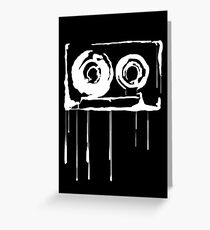 Splatter  Cassette (white) Greeting Card