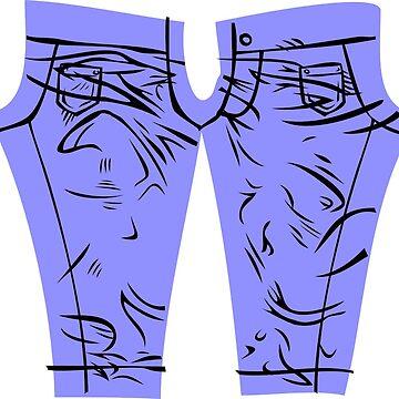 Comic Leggings by GrimDork