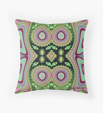 Abstract Colorful Cactus Vibes Throw Pillow