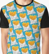 French Fries Pattern Graphic T-Shirt
