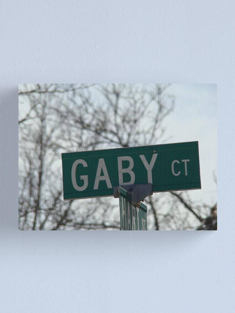 Alternate view of Gaby, Gaby mask, Gaby mug, Gaby sticker, Gaby magnet  Canvas Print