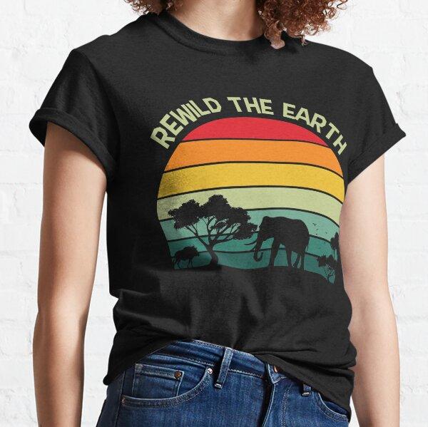 Rewild The Earth Forest Animals Retro Design Classic T-Shirt