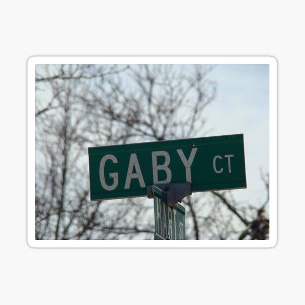 Gaby, Gaby mask, Gaby mug, Gaby sticker, Gaby magnet  Sticker