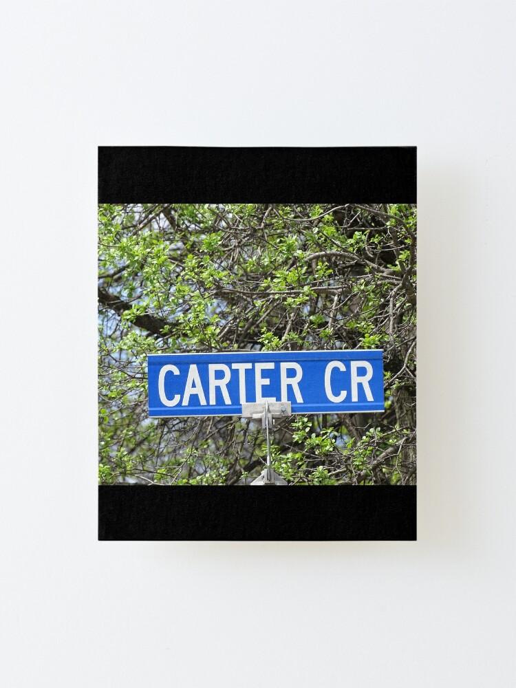 Alternate view of Carter, Carter sticker, Carter magnet, Carter mask, Carter greeting card  Mounted Print