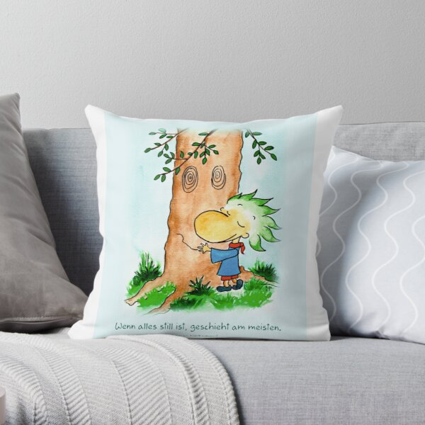 When everything is still, most of it happens Throw Pillow