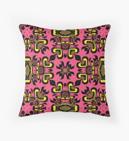 Coral Colored Surf Girl Abstract Pattern Throw Pillow