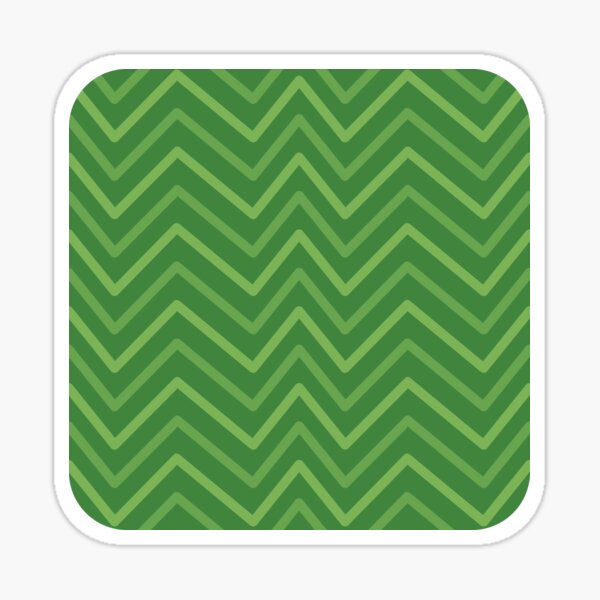 Green Modern Chevron Zig Zag Pattern Sticker