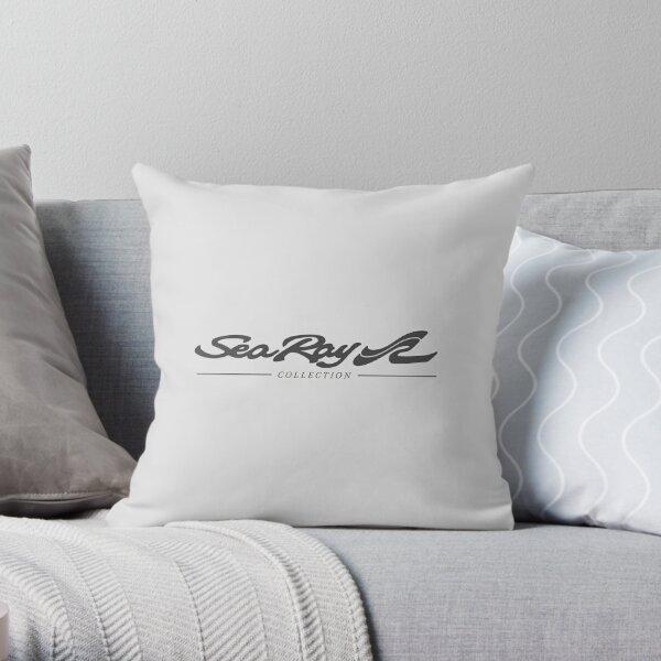 Sea Ray Boat Black Collection Logo Throw Pillow