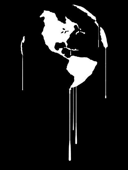Splatter Earth 1 (white) by RobertBell