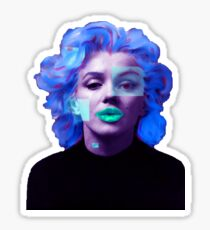 Paradox of Marylin Monroe (purple) Sticker
