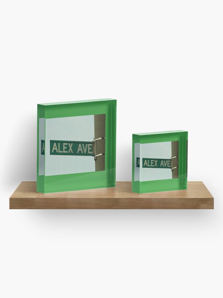 Alternate view of Alex, Alex magnet, Alex sticker, Alex mask, Alex mug  Acrylic Block