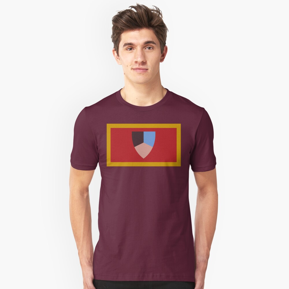 Old Castle Flag T Shirt By Woodenduke Redbubble