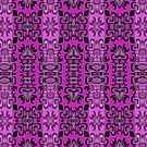 Bright Pink Surf Girl Surfboard Pattern  by LouisaCatharine