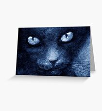 ODESSA LE CHAT BLEU Greeting Card