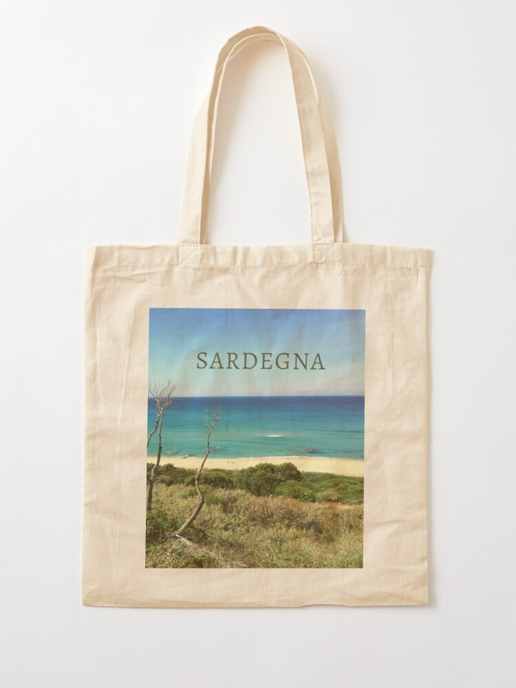 Alternate view of Li Feruli Beach, Sardinia, Italy Tote Bag