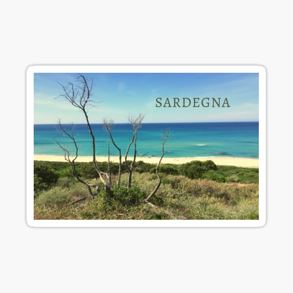Li Feruli Beach, Sardinia, Italy Sticker