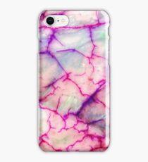 White Red Dragon Vein Agate Pattern iPhone Case/Skin