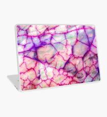 White Red Dragon Vein Agate Pattern Laptop Skin
