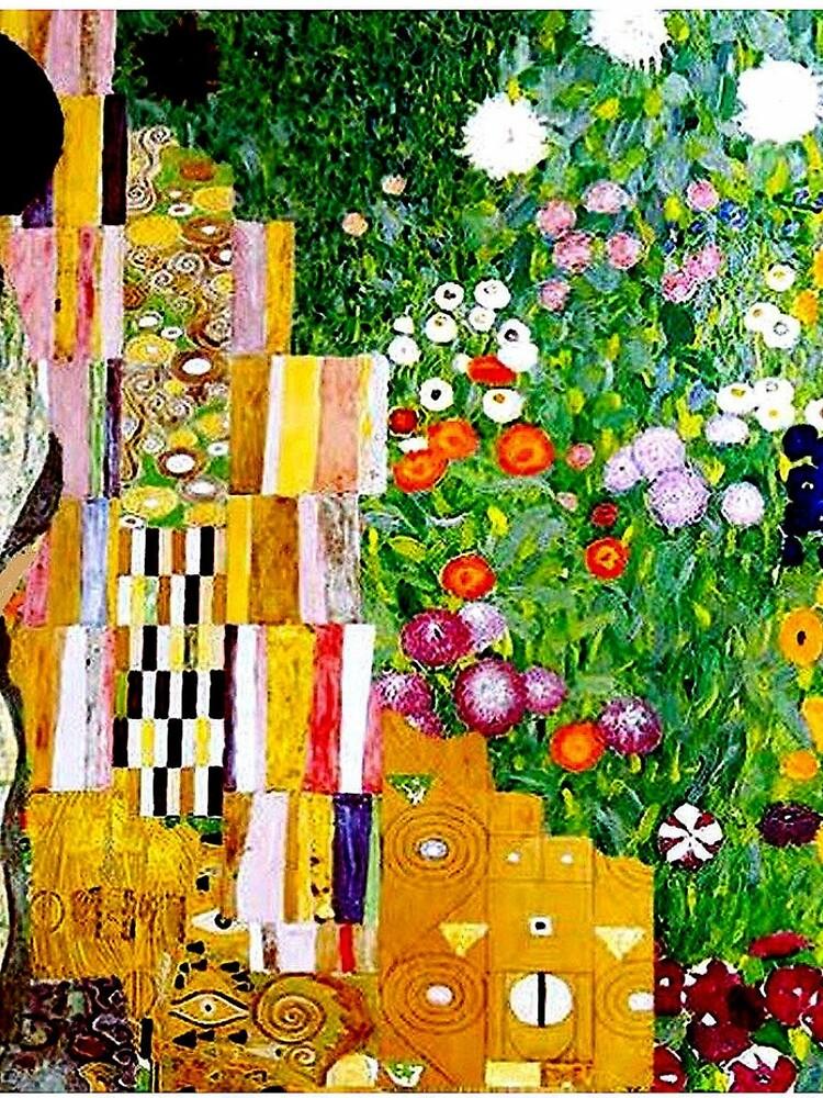 Gustav Klimt ; Vintage 1917 Adele Bloch-Bauer in Garden Print by posterbobs
