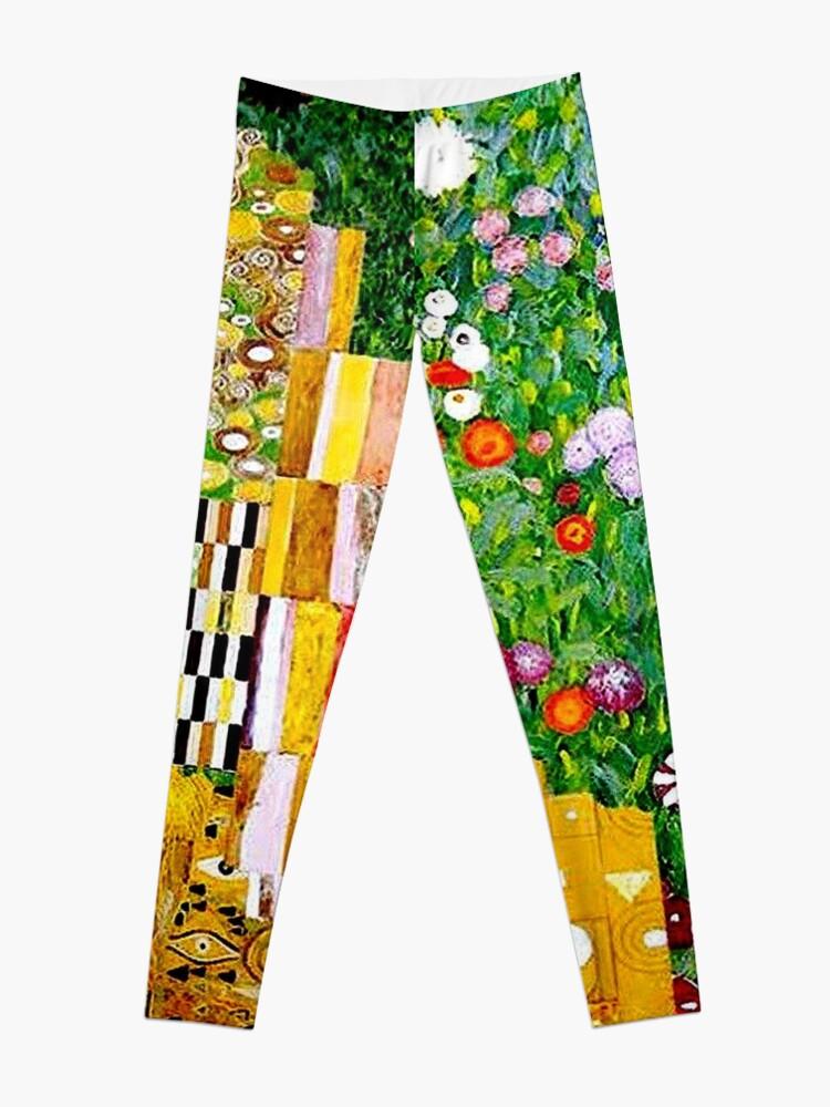 Alternate view of Gustav Klimt ; Vintage 1917 Adele Bloch-Bauer in Garden Print Leggings