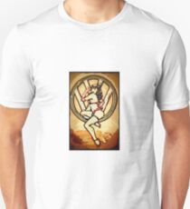Split screen pin up girl Unisex T-Shirt