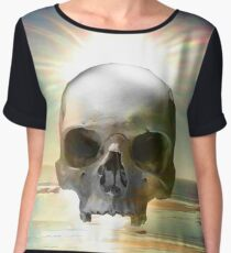 Skull Sunset Women's Chiffon Top