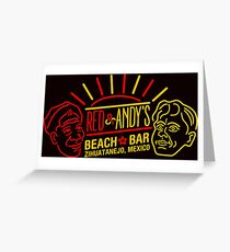Red and Andy's Beach Bar, Zihuatanejo Greeting Card