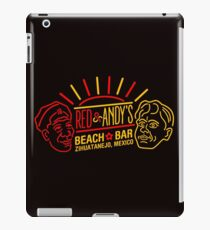 Red and Andy's Beach Bar, Zihuatanejo iPad Case/Skin