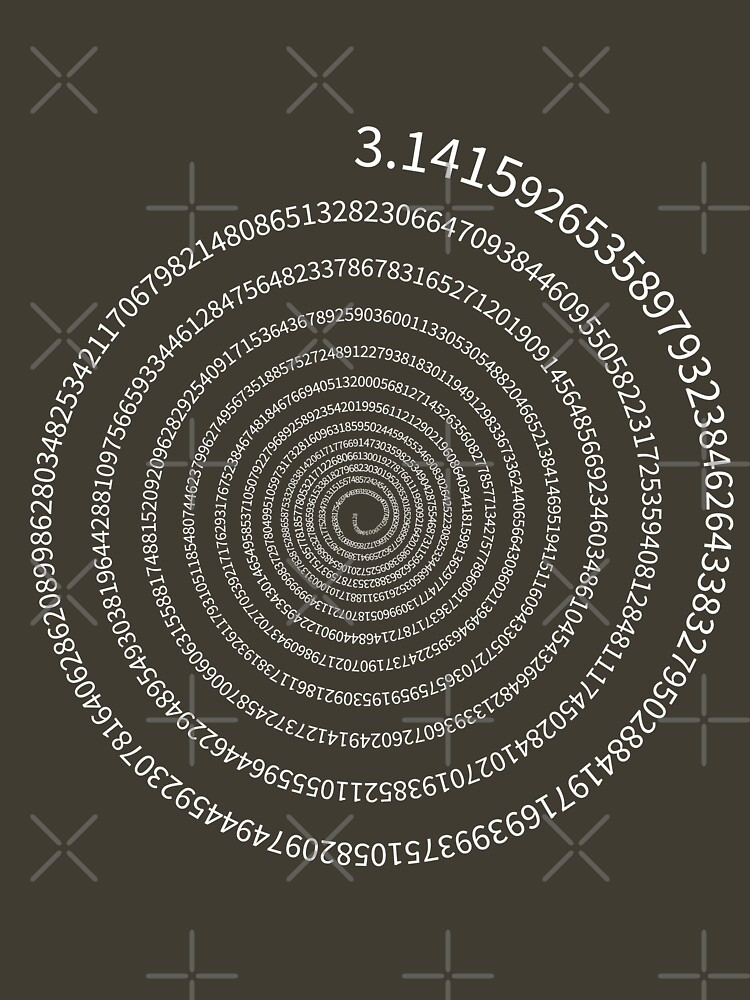 Pi Digits Spiral (white text) by dave-williams