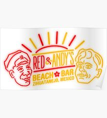 Red and Andy's Beach Bar, Zihuatanejo Poster