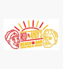 Red and Andy's Beach Bar, Zihuatanejo Photographic Print